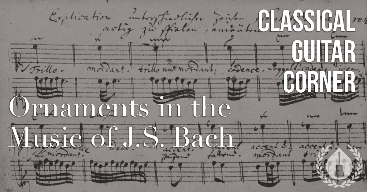 Ornamentation in the Music of J.S. Bach